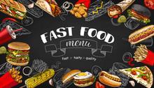Vector Vintage Fast Food Speci...