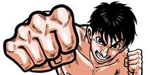 パンチ,ボクシング,裸,上半身,格闘,男,殴る,拳,血,汗