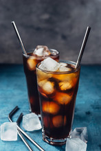 Cold Brew Coffee In A Glass Wi...