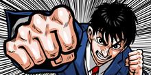 パンチ,ボクシング,スーツ,背広,ビジネスマン,上半身,格闘,男,殴る,拳,血,汗