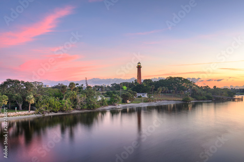 Valokuvatapetti Jupiter, Florida, USA at Jupiter Inlet Light