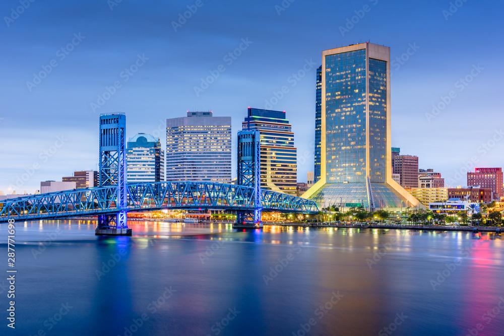 Fototapety, obrazy: Jacksonville, Florida, USA downtown city skyline