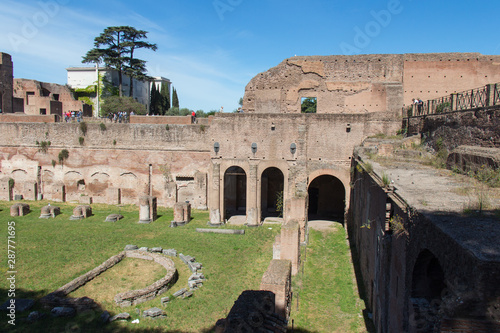 Fototapeta  Hippodrome of Domitian on the Palatine Hill, Rome, Lazio, Italy.