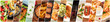 canvas print picture - Food Collage. A design template with many tasty dishes