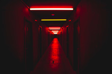 Red Light Corridor Scary Conce...
