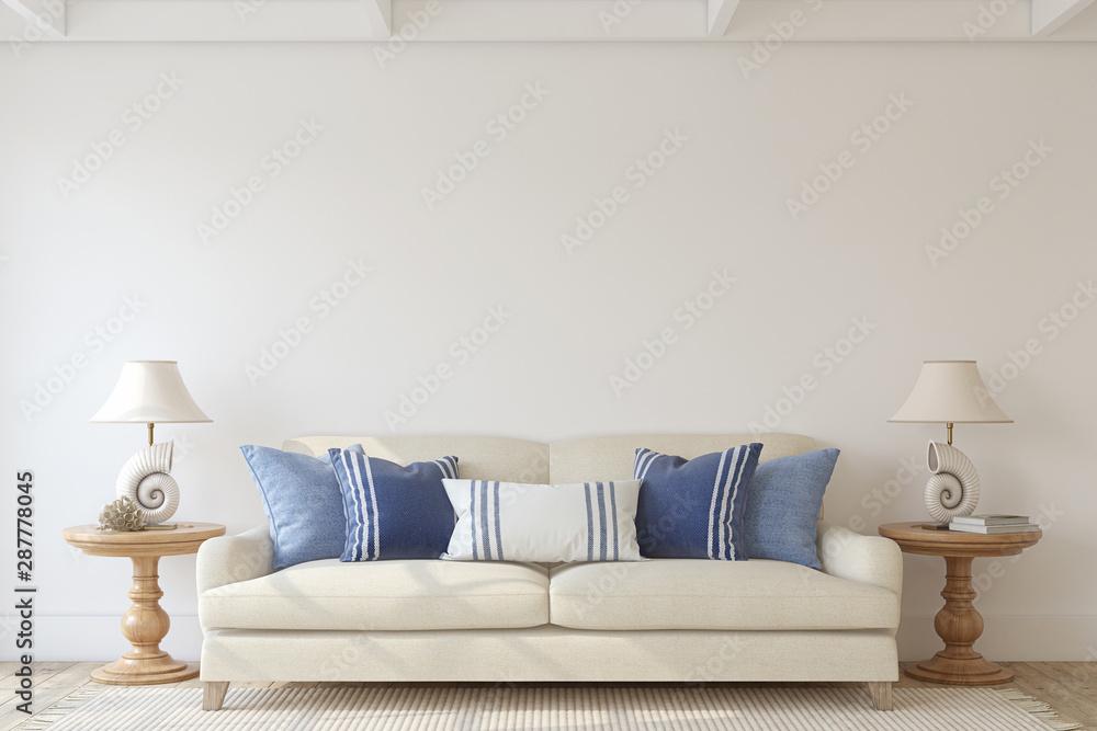 Fototapety, obrazy: Living-room interior. 3d render.