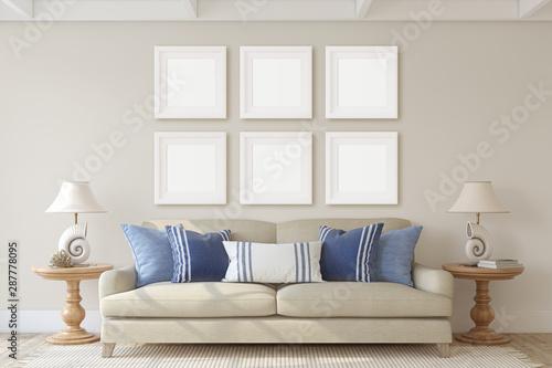 Papel de parede  Living-room interior. 3d render.