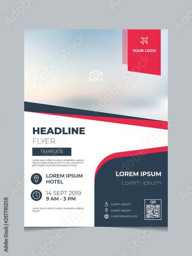 Fotografie, Obraz  Modern business brochure template vector, flyer, poster, report cover layout design