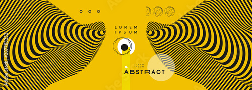 Obraz Background with optical illusion. Pattern can be used as a template for brochure, annual report, magazine, poster, presentation, flyer and banner. 3d vector illustration. - fototapety do salonu