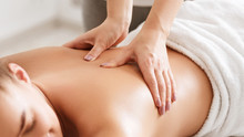 Body Care. Young Girl Having M...
