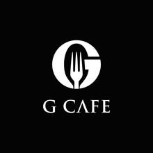 Letter G For G CAFE Negative Space Logo Design