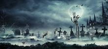 Skeleton Zombie Hand Rising Ou...