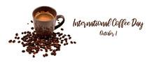 International Coffee Day Illus...