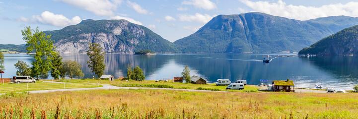 Camping along Sundalsfjord ...