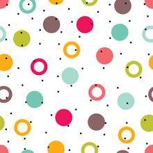 Seamless Pattern, Polka Dot Fa...