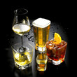 a choice of possibilities to consume alcohol at the bar