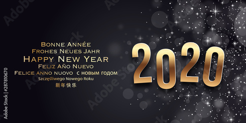 Carte de voeux - Happy New Year 2020 Wallpaper Mural