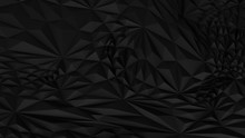 Low Poly Black Abstract Backround