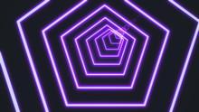Neon Pentagon Tunnel Abstract ...