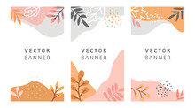Abstract Floral Vector Modern ...