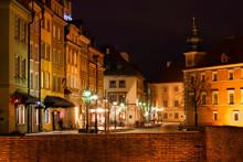 Old Town At Night, Warsaw, Pol...
