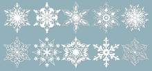 Set Of Snowflakes. Laser Cut P...