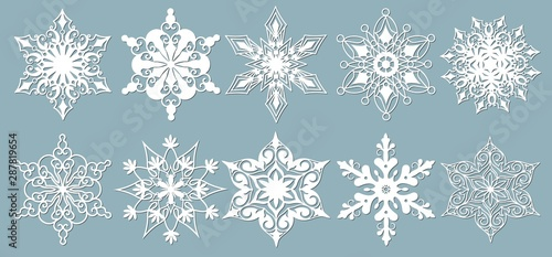 Set of snowflakes Fototapete