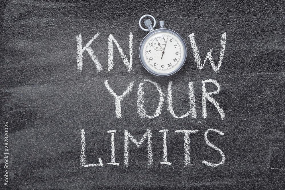 Fototapeta know your limits watch