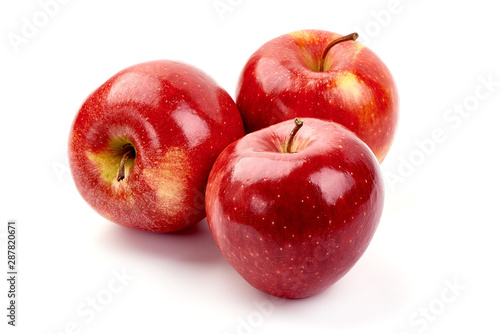 Photo Red delicious apples, isolated on white background