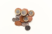 Coins Isolated On White Britis...
