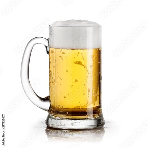 Fotografie, Obraz  Full beer mug, close up