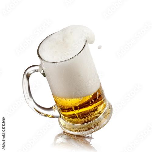 Fotografie, Obraz  Beer mug plash