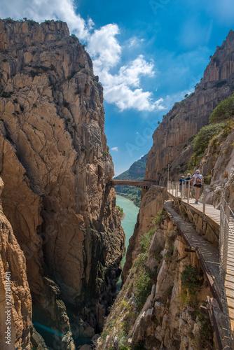Caminito del Ray walking trail and via ferrata through the canyon Wallpaper Mural