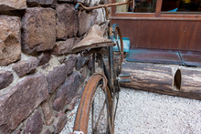 Old Rusty Bicycle In Front Of ...