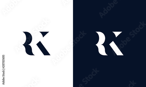 Abstract letter RK logo Canvas Print