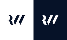 Abstract Letter RW Logo. This ...