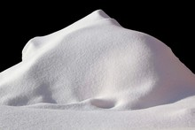 Huge Pile Of Snow Isolated On Black