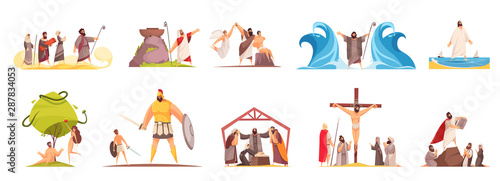 Bible Narratives Characters Set Fototapet