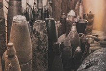 Old Rusty Shells From World War II.