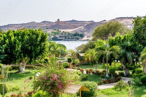 Botanical island (Lord Kitchener's island) on Nile river, Egypt Wallpaper Mural