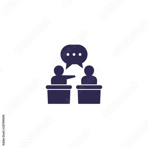Cuadros en Lienzo  debate or discussion icon, vector
