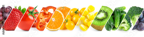 Fruits and vegetables. Fresh ripe food - 287842418