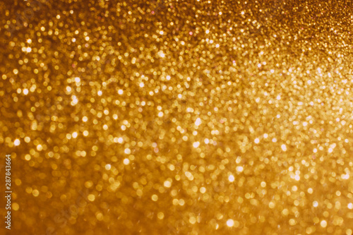 Foto auf AluDibond Artist KB Defocused Golden shiny abstract background.