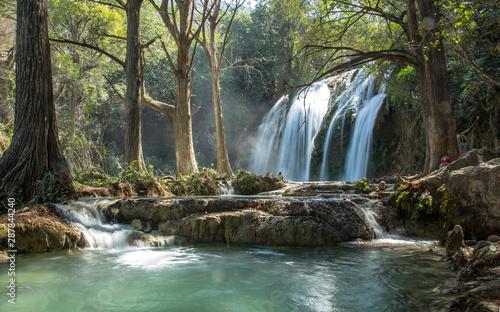 Foto op Plexiglas Bos rivier Cascadas de Chifon waterfalls to the chiapas mexico