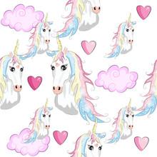 Seamless Unicorn Pattern With ...