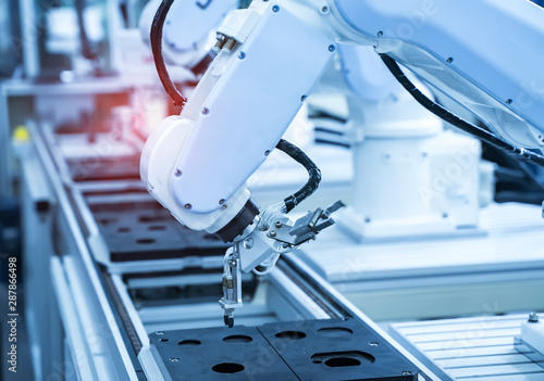 Cuadros en Lienzo  robotic arm catch for electronic assembly line