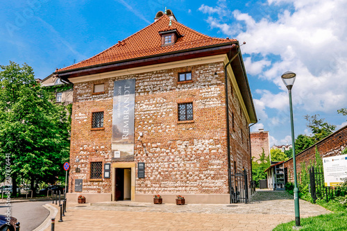 Fototapeta KRAKOW, POLAND - MAY 25, 2019: Europeum - European Culture Center in the Old Granary at the Sikorski Square 6 obraz