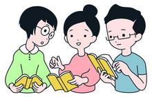 読書会を楽しむイメージイラスト