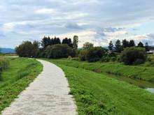 Promenade Along The Bank Of The River Orljava Or Setnica Uz Obalu Rijeke Orljave - Pozega, Croatia