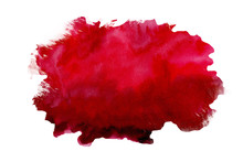 Abstract Watercolor Red Textur...